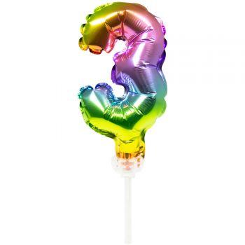 Cake topper ballon Arc en ciel N°3
