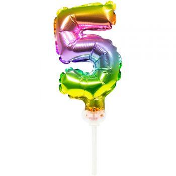 Cake topper ballon Arc en ciel N°5
