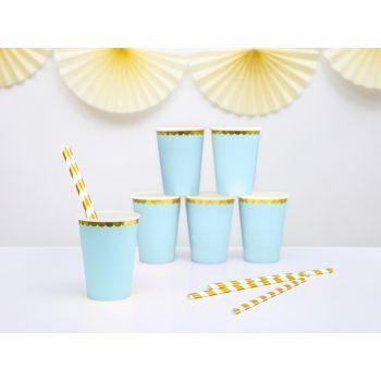 6 gobelets sweet pastel bleu