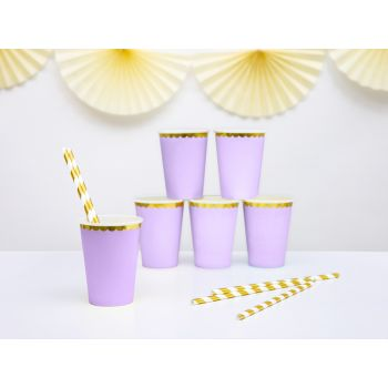 6 gobelets sweet pastel lilas