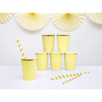 6 gobelets sweet pastel jaune