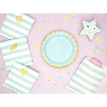 6 petites assiettes sweet pastel mint