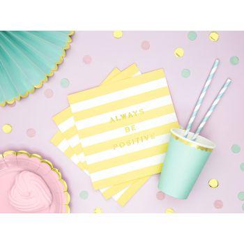 20 serviettes sweet pastel jaune