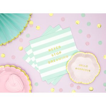 20 serviettes sweet pastel mint