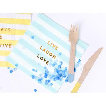 20 serviettes sweet pastel bleu
