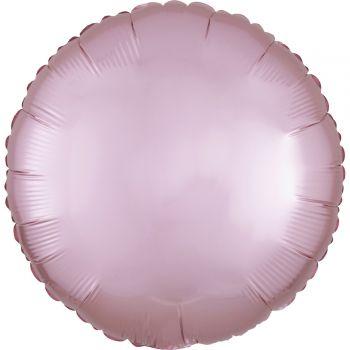 Ballon hélium satin luxe rose pastel rond