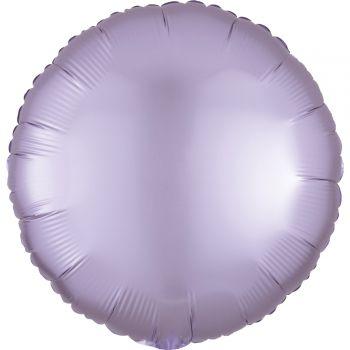 Ballon hélium satin luxe lilas pastel rond