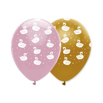 6 Ballons Swan party