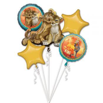 Bouquet ballons helium Le Roi lion