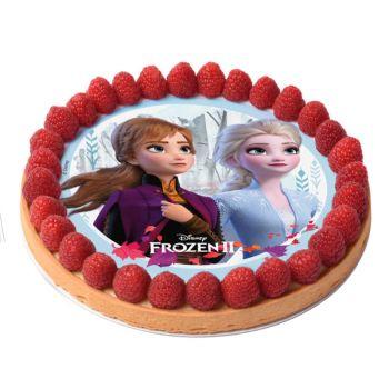 Disque comestible La Reine des Neiges II sans sucre