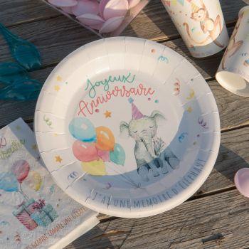 Assiettes anniversaire Zoo Party