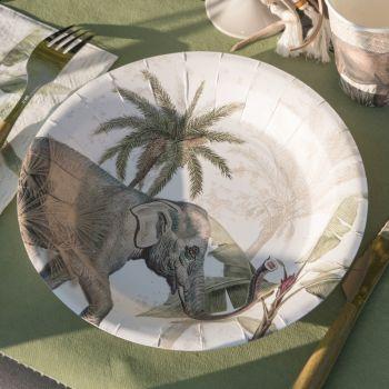 10 Assiettes Jungle Indou