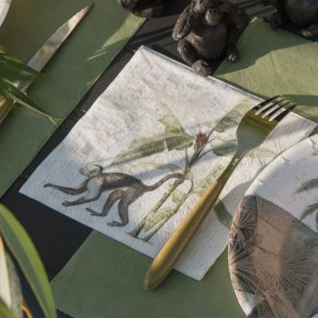 20 Serviettes Jungle India