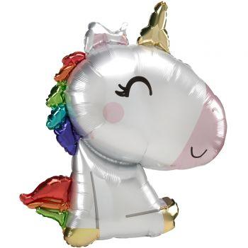 Ballon hélium licorne assise 73cm
