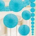 Décoration bleu turquoise